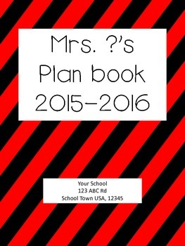 Personalized Plan book