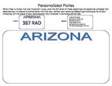 Personalized Plates (Arizona)