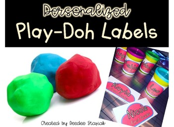 Personalized Play-doh labels