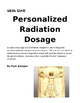 Personalized Radiation Dosage Worksheet