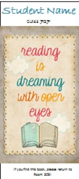 Personalized Reading Quote Bookmarks
