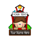 Personalized Schoolhouse Graphic