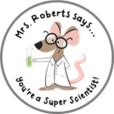 Science Achievement Stickers - Lab Rat - Personalized For