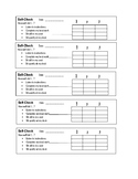 Personalized Self Check Form - Daily Behavior Log
