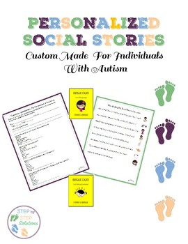 Personalized Social Stories:  Custom Made For Individuals With Autism