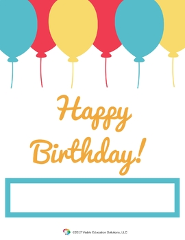 Personalized Staff / Teacher  Happy Birthday Madlib Preview