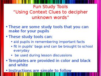 Using Context Clues Study Tools