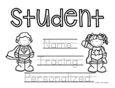 Personalized Super Hero Name Tracing Pages, Class Set