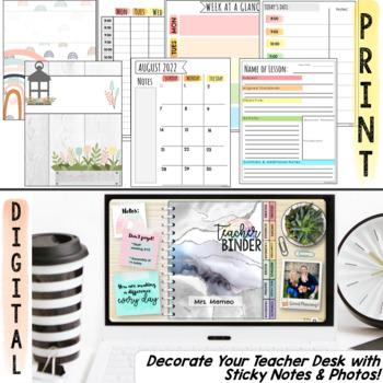 Teacher Planner 2019-2020 Editable Teacher Binder Covers