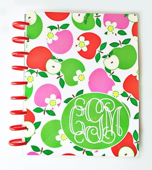 Personalized Teacher Happy Planner Cover Set -  This item