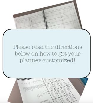 Personalized Teacher Planbook