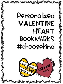Personalized Valentine Bookmarks