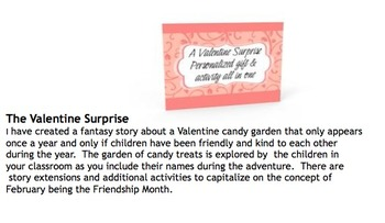 Personalized Valentine's Day Classroom Story: A Candy Land Adventure