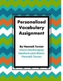 Personalized Vocabulary Assignment