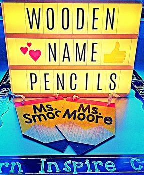 Personalized Wooden Pencil Classroom Decor