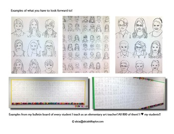 Portraits of your students - personalized and hand drawn!