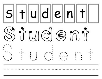 Personalized / individualized student nameplate