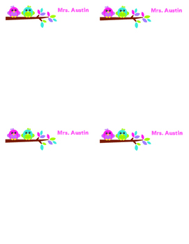 Personalized memo pads (4-up birds)