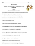 Personfication Author's Craft Printable