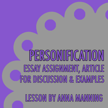 personification essay related resources tpt personification essay related resources