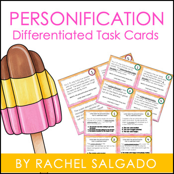 Personification Figurative Language Task Cards
