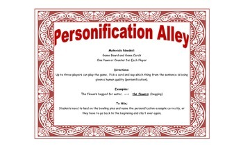 Personification Game - Personification Alley for Workstations and Small Groups