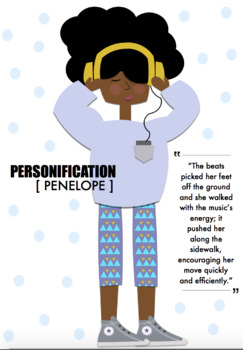 Personification // High-Interest Short Story, Poster, & Activities