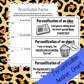 Personification Interactive Anchor Chart Lesson!
