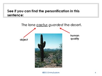 Personification Introduction Lesson - PowerPoint
