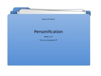 Personification - It's a Figure of Speech!   PPT
