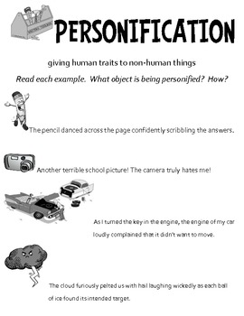 Personification Minilesson - Autumn Leaves