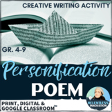 ⭐Personification Poem Poetry Creative Writing Activity with Rubric
