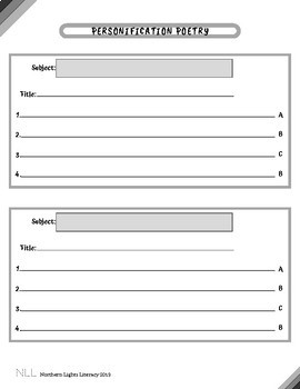 Personification Poetry Worksheet - No Prep, Common Core Aligned