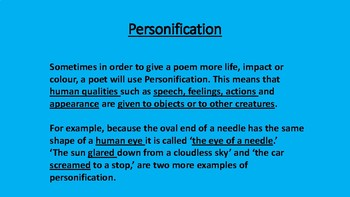 Personification - Poetry - Poems and Activities