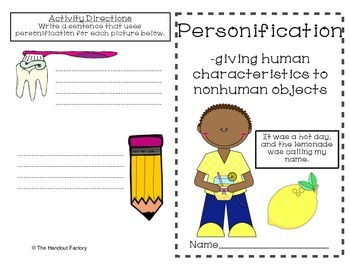 Personification Poster and Booklet