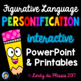 Personification PowerPoint and Worksheets Figurative Language