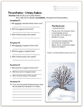 Free Poetry Worksheets | Teachers Pay Teachers