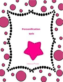 Personification Quiz