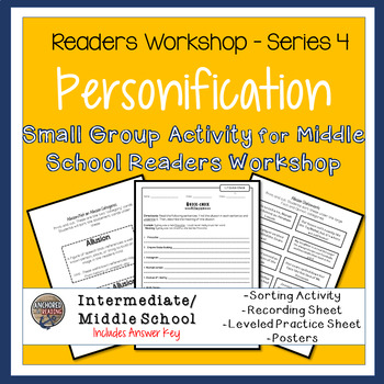 Personification Sort, Worksheets, Posters - Center or Readers Workshop