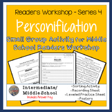 Personification rt, Worksheets, Posters - Center or Reader