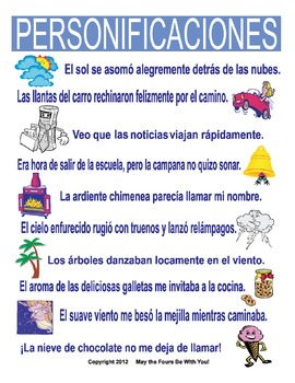 Personification with Figurative Language in Writing in Spanish