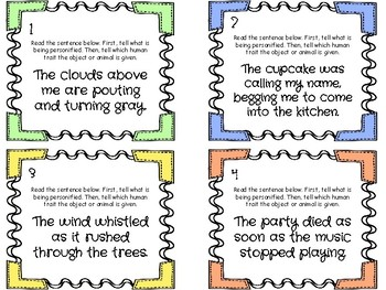 Personification Task Cards