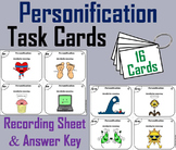 Personification Task Cards 4th 5th 6th 7th 8th Grade Figurative Language