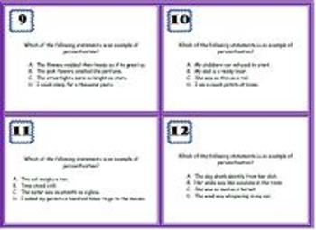 Personification Task Cards & Extension Activity- Scoot Game