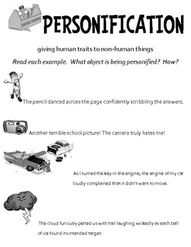 Personification Teaching Packet