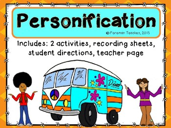 Personification - Two Activities