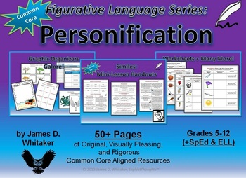 Personification Unit Resources Figurative Language Common Core