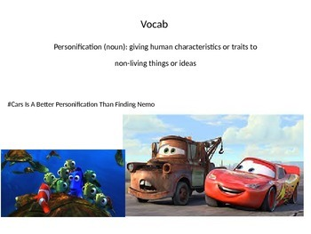 Personification Vocab Word