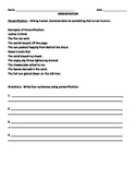 Personification Worksheet Teaching Resources Teachers