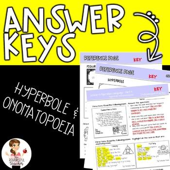 Hyperbole and Onomatopoeia Figurative Language in Poetry Lesson